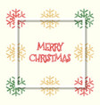 red golden green colored snowflakes christmas vector image