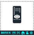 Remote control icon flat vector image vector image
