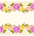 Rose frame invitation card vector image