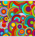 seamless background with abstract circles vector image vector image