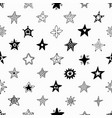 seamless pattern hand drawn stars vector image