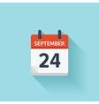 September 24 flat daily calendar icon vector image