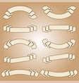 set of vintage isolated banner ribbons on a light vector image