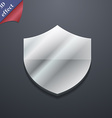 Shield Protection icon symbol 3D style Trendy vector image