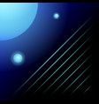 space abstraction blue glowing balls and stripes vector image