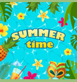 summer time holiday calligraphy design banner vector image