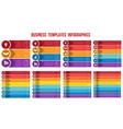 templates infographics from strips arrows vector image