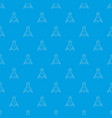 test flask pattern seamless blue vector image vector image
