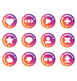 update icon for social network application vector image