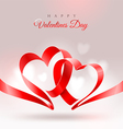 Valentines Day design with two hearts vector image vector image