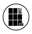 Wall tiles icon vector image vector image