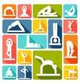 Yoga exercises icons flat vector image vector image