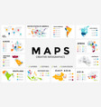 map infographic slide presentation global vector image
