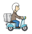delivery boy on motor scooter vector image