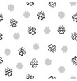 seamless pattern with traces of dogs vector image