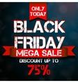 Black Friday mega sale design template vector image