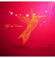 Gold lace colibri flying for dream vector image