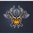 Skull viking warrior vector image