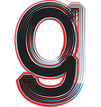 abstract font letter g vector image vector image