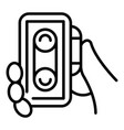 audio voice recorder icon outline style vector image