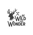 be wild and wonder 2 vector image vector image