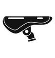 bike saddle icon simple style vector image