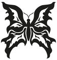 Black and white butterflies Tattoo design vector image