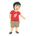 Boy Welcome vector image vector image
