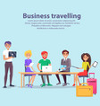 business travelling workers vector image vector image