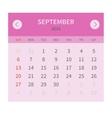 Calendar monthly september 2015 in flat design vector image