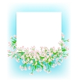 card with small pink flowers vector image