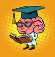 character brain university professor vector image vector image