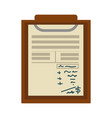 check list or notepad paper sheet with notes and vector image vector image