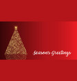 christmas background with tree baubles vector image vector image