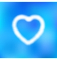 cloud in the form of heart vector image vector image
