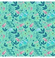 Colorful seamless pattern with forest elements vector image vector image