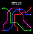 colors metro or subway city map concept vector image vector image