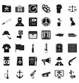computer crime icons set simple style vector image vector image