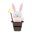 cute rabbit or bunny icon image vector image vector image