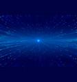 digital zoom bursting lines technology background vector image vector image