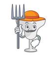 farmer margarita glass character cartoon vector image