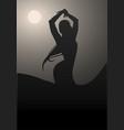 flamenco dancer woman logo spanish flamenco vector image vector image