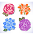 Four flowers vector image vector image