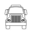 front truck transportation commercial vehicle vector image vector image