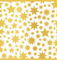 golden foil star seamless pattern vector image