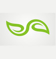 green leaf organic abstract logo vector image vector image