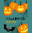 halloween banner template vector image