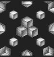 hand drawn dotart blackwork pattern vector image vector image