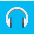 Headphones in flat style vector image