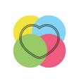 heart love icon - heart vector image